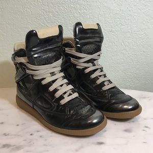 MARGIELA gun metal sneakers